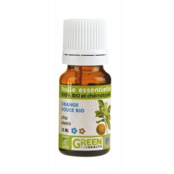 Huile essentielle Bio Orange Douce, flacon de 10 ml